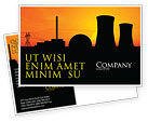 Utilities/Industrial: Nuclear Power Plant Postcard Template #04632