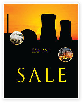 Utilities/Industrial: Nuclear Power Plant Sale Poster Template #04632