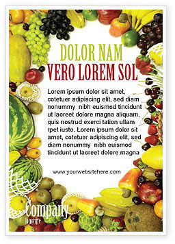 Agriculture and Animals: Fruit Overvloed Advertentie Template #04634