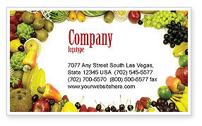 Agriculture and Animals: Fruit Profusion Business Card Template #04634