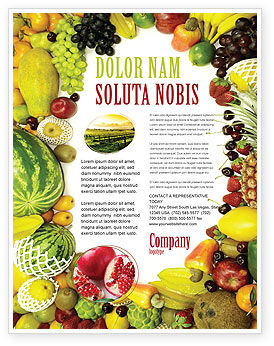Agriculture and Animals: Fruit Profusion Flyer Template #04634