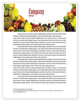 Agriculture and Animals: Fruit Profusion Letterhead Template #04634