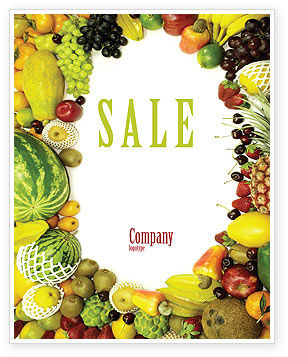 Agriculture and Animals: Fruit Profusion Sale Poster Template #04634