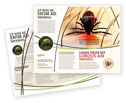 Mite Brochure Template, 04636, Medical — PoweredTemplate.com