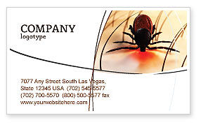 Mite Business Card Template, 04636, Medical — PoweredTemplate.com