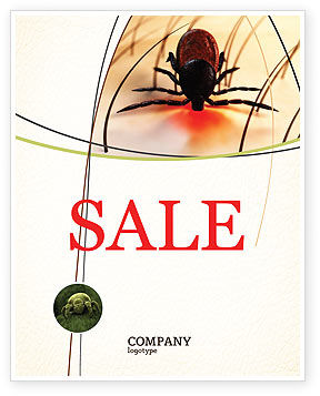 Mite Sale Poster Template, 04636, Medical — PoweredTemplate.com