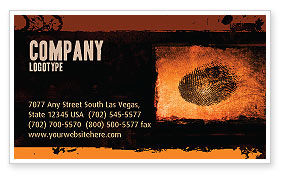Careers/Industry: Dactylogram Business Card Template #04637