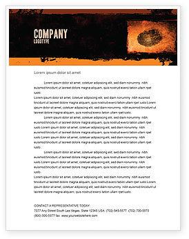 Dactylogram Letterhead Template, 04637, Careers/Industry — PoweredTemplate.com