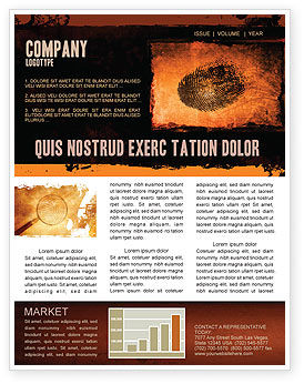 Dactylogram Newsletter Template, 04637, Careers/Industry — PoweredTemplate.com