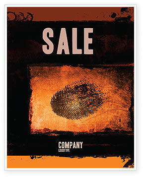 Dactylogram Sale Poster Template, 04637, Careers/Industry — PoweredTemplate.com