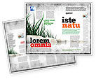 Nature & Environment: Modèle de Brochure de pierres et herbe #04639