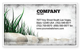 Nature & Environment: Stones and Grass Business Card Template #04639