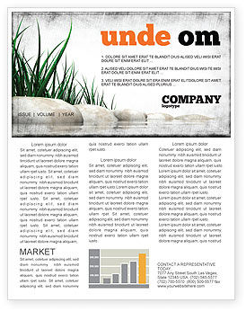 Stones and Grass Newsletter Template, 04639, Nature & Environment — PoweredTemplate.com