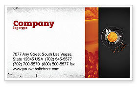 Food & Beverage: Coffeeshop Visitekaartje Template #04643
