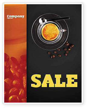 Coffee Shop Sale Poster Template, 04643, Food & Beverage — PoweredTemplate.com