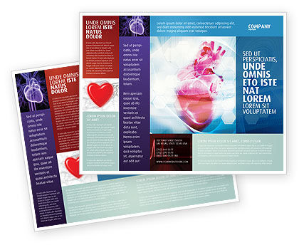 Artificial Heart Brochure Template