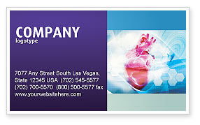 Artificial Heart Business Card Template, 04644, Medical — PoweredTemplate.com