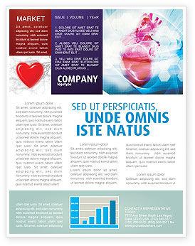 Artificial Heart Newsletter Template, 04644, Medical — PoweredTemplate.com