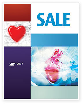 Medical: Artificial Heart Sale Poster Template #04644