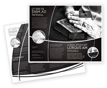 Good Book Brochure Template, 04645, Religious/Spiritual — PoweredTemplate.com