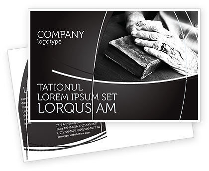 Good Book Postcard Template
