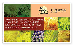 Nature & Environment: Floristic Business Card Template #04648