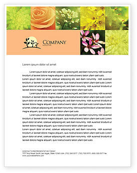 Nature & Environment: Floristic Letterhead Template #04648