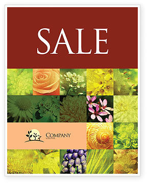 Floristic Sale Poster Template, 04648, Nature & Environment — PoweredTemplate.com