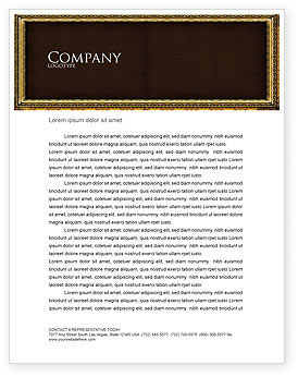 Frame Letterhead Template, 04656, Art & Entertainment — PoweredTemplate.com