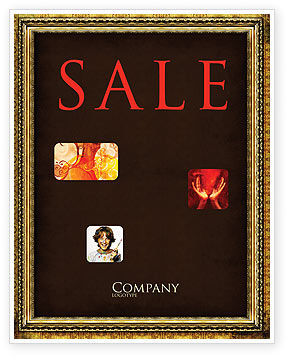 Art & Entertainment: Frame Sale Poster Template #04656