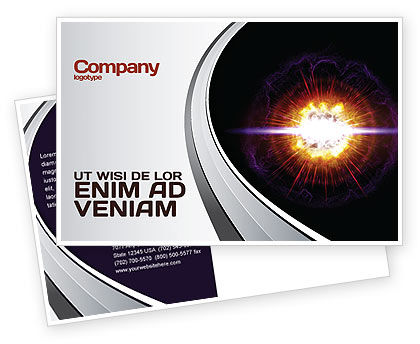 Supernova Postcard Template, 04660, Technology, Science & Computers — PoweredTemplate.com