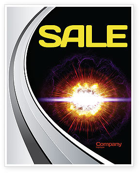 Supernova Sale Poster Template