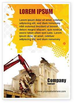 Demolition Ad Template, 04661, Construction — PoweredTemplate.com
