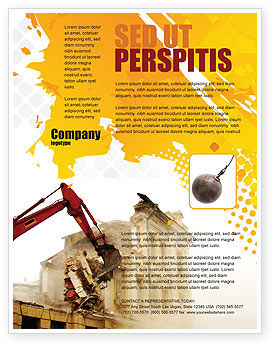 Demolition Flyer Template, 04661, Construction — PoweredTemplate.com