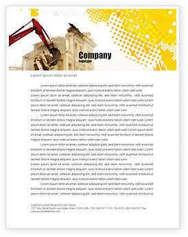Demolition Letterhead Template, 04661, Construction — PoweredTemplate.com