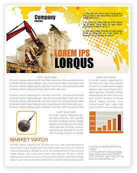 Demolition Newsletter Template, 04661, Construction — PoweredTemplate.com