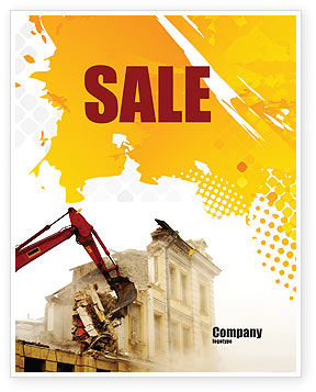 Demolition Sale Poster Template, 04661, Construction — PoweredTemplate.com