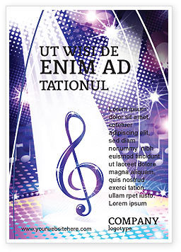 Art & Entertainment: Musikmelodie Anzeigenvorlage #04663