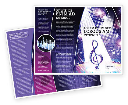 Music Tune Brochure Template, 04663, Art & Entertainment — PoweredTemplate.com