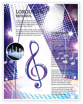 Music Tune Flyer Template, 04663, Art & Entertainment — PoweredTemplate.com
