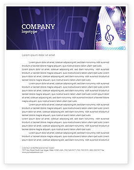 Music Tune Letterhead Template, 04663, Art & Entertainment — PoweredTemplate.com