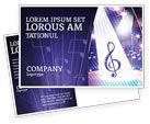 Art & Entertainment: Music Tune Postcard Template #04663