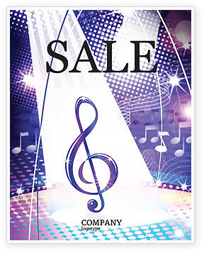 Art & Entertainment: Music Tune Sale Poster Template #04663