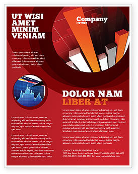 Financial/Accounting: Economic Indicator Flyer Template #04671