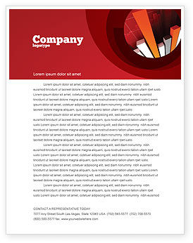 Economic Indicator Letterhead Template, 04671, Financial/Accounting — PoweredTemplate.com