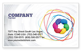 Peoples Diversity Business Card Template, 04673, Religious/Spiritual — PoweredTemplate.com