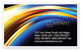 Abstract Arc Business Card Template, 04674, Abstract/Textures — PoweredTemplate.com
