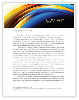 Abstract Arc Letterhead Template, 04674, Abstract/Textures — PoweredTemplate.com