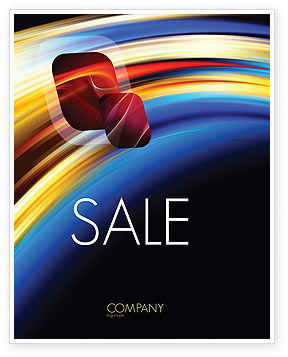 Abstract Arc Sale Poster Template