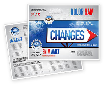 Business Concepts: Way To Changes Brochure Template #04676